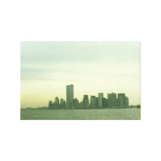 Pre 9/11/01 lower New York skyline on canvas Stretched Canvas Prints