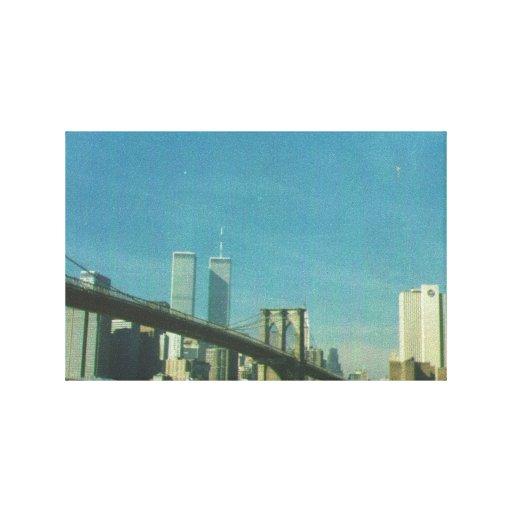 Pre 9/11/01 New York skyline on canvas Canvas Print