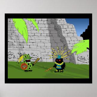 Pre-Columbian Hedgehogs Poster