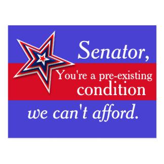 Pre-Existing Senator Postcard