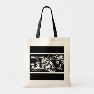 Pre-Hispanic Aztec Style Painting c. 1925 Tote Bag