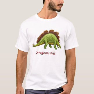 Pre-Historic Stegosaurus Dinosaur Adult T-Shirt