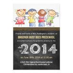 Pre-K Class of 2014 Chalkboard Grad Personalised Invitations