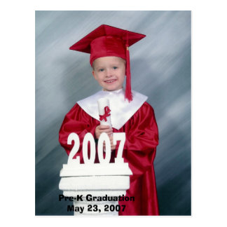 Pre-K Graduation Postcard
