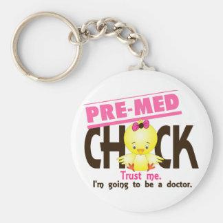 Pre-Med Chick 3 Key Ring