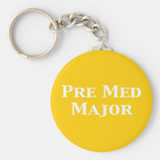 Pre Med Major Gifts Basic Round Button Key Ring