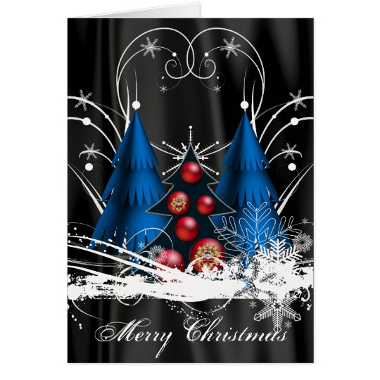 Pre-Printed Christmas Tree Card