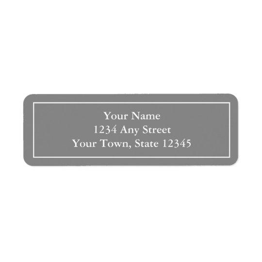 Pre-printed Grey Return Address Label Stickers
