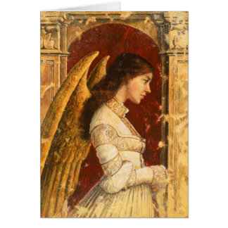 Pre-Raphaelite Angel Mural Greetings Card