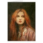 Pre-Raphaelite Girl Greetings Card