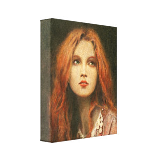 Pre-Raphaelite Muse Wrapped Canvas Stretched Canvas Print