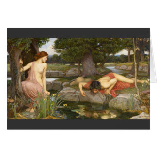 Pre-Raphaelite Painting Echo and Narcissus Greeting Card