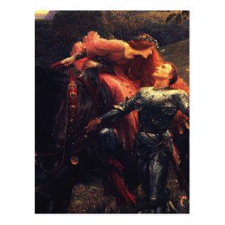 Pre Raphaelites - La Belle Dame Sans Merci Postcard