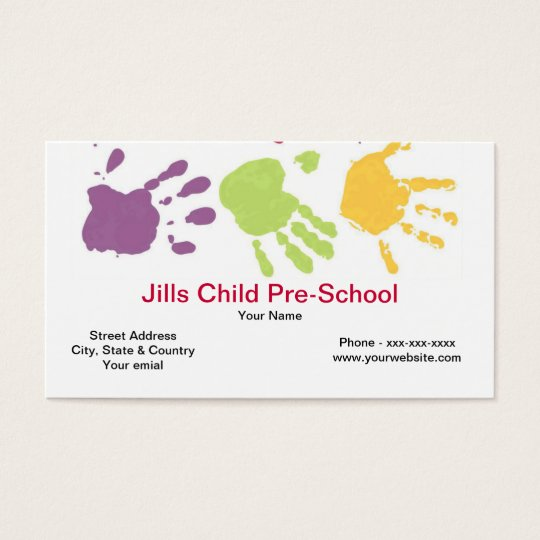 Pre School Business Card
