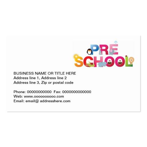 pre school word in fun letters Double-Sided standard ...