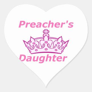 Preacher's Daughter Heart Sticker