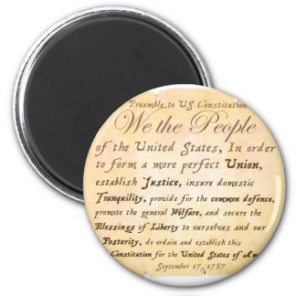 Preamble to Constitution H 6 Cm Round Magnet