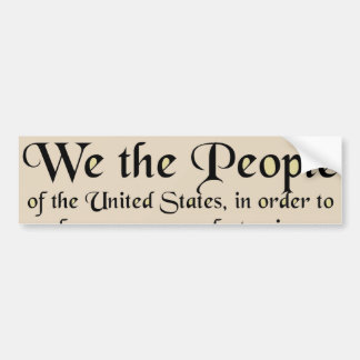 Preamble to The Constitution of the United States Bumper Sticker