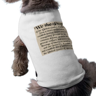 Preamble to The Constitution of the United States Sleeveless Dog Shirt