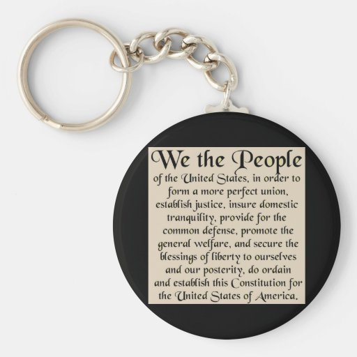 Preamble to The Constitution of the United States Keychains