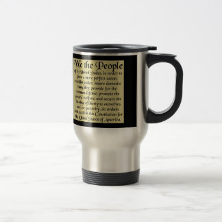 Preamble To The Constitution Stainless Steel Travel Mug