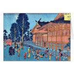 Precinct of Shiba Shinmei, by Ando, Hiroshige Card