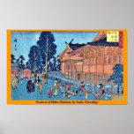 Precinct of Shiba Shinmei, by Ando, Hiroshige Poster