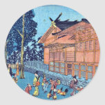 Precinct of Shiba Shinmei, by Ando, Hiroshige Stickers