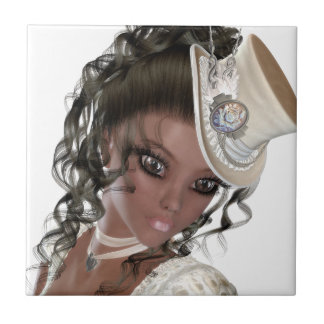 Precious African American Woman Small Square Tile
