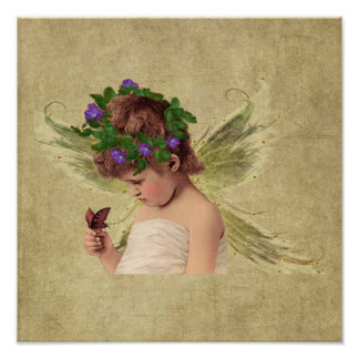 Precious Angel Girl w/butterfly-  Print