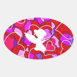 Precious Angel. Oval Sticker