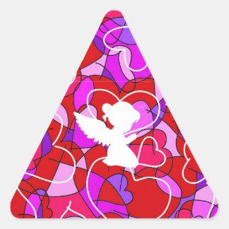Precious Angel. Triangle Sticker