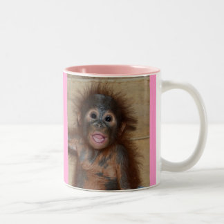 Precious Baby Orangutan Two-Tone Mug