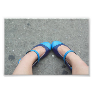 Precious Blue Shoes Photo Print
