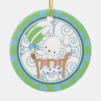 Precious Bunny Baby's First Christmas Ornament