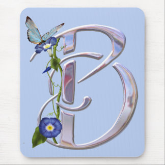 Precious Butterfly Initial B Mouse Pad