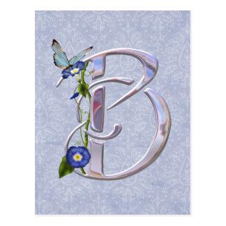 Precious Butterfly Initial B Postcard
