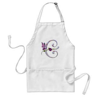 Precious Butterfly Initial C Apron