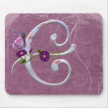 Precious Butterfly Initial C Mouse Pad