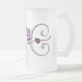 Precious Butterfly Initial E Mugs