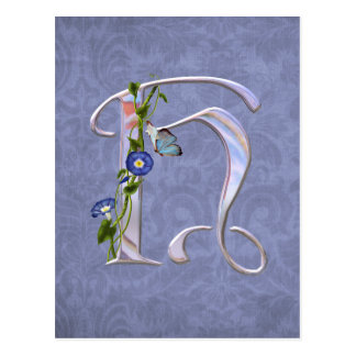 Precious Butterfly Initial H Postcard