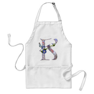 Precious Butterfly Initial K Standard Apron