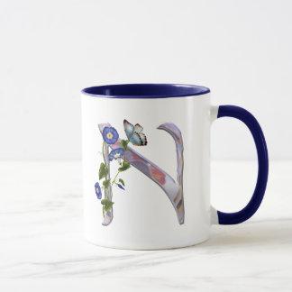 Precious Butterfly Initial N Mug