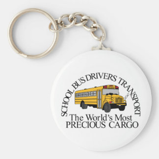 Precious Cargo Basic Round Button Key Ring