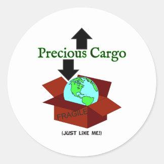 Precious Cargo Round Sticker