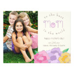 Precious Florals Happy Mother's Day Photo Card Personalised Invite