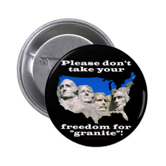 Precious Freedom 6 Cm Round Badge
