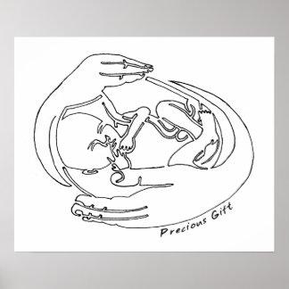 Precious Gift One Line Design Poster