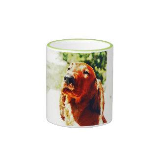 Precious Irish Setter Puppy Ringer Mug