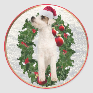 Precious Jack Russell Number 4 Christmas Stickers